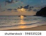 sunset on the beach. phang nga...   Shutterstock . vector #598535228