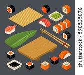 Set Sushi. Bamboo Mat ...