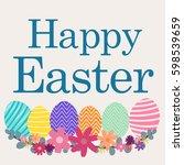 happy easter day   Shutterstock .eps vector #598539659
