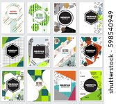 memphis background style design ... | Shutterstock .eps vector #598540949