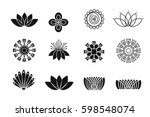 set of flower design elements.... | Shutterstock .eps vector #598548074