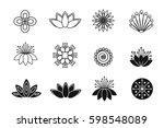 set of flower design elements....   Shutterstock .eps vector #598548089