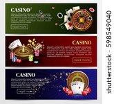 casino poker web banners... | Shutterstock .eps vector #598549040
