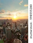 bangkok cityscape sunset in the ...   Shutterstock . vector #598555280