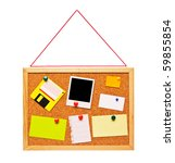 cork bulletin board with notes  ... | Shutterstock . vector #59855854