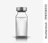 transparent glass medical vial  ...   Shutterstock .eps vector #598558553