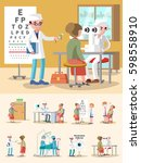 medical treatment ophthalmology ... | Shutterstock .eps vector #598558910
