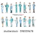 cartoon medical characters set...   Shutterstock .eps vector #598559678