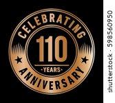 110 years anniversary logo... | Shutterstock .eps vector #598560950