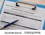 health care insurance claim... | Shutterstock . vector #598560998