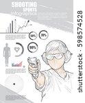 sport infographic. shooting...   Shutterstock .eps vector #598574528