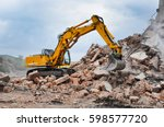 Excavator Working At The...