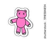 doodle icon  sticker. teddy... | Shutterstock .eps vector #598584854