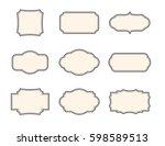 vintage frames. set isolated... | Shutterstock .eps vector #598589513