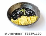 korean black bean noodle... | Shutterstock . vector #598591130