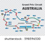 australian grand prix race... | Shutterstock .eps vector #598596530