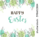 decorative easter greeting card ... | Shutterstock .eps vector #598602884