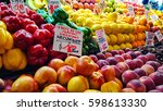 fresh fruit at a local farmers...   Shutterstock . vector #598613330