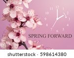 spring forward   daylight... | Shutterstock . vector #598614380