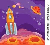vector cartoon illustration of... | Shutterstock .eps vector #598618070