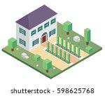 modern isometric house...   Shutterstock .eps vector #598625768