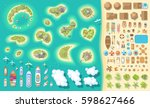 vector set. summer vacation.... | Shutterstock .eps vector #598627466