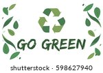 organic environment save earth... | Shutterstock . vector #598627940