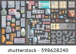 vector set of cityscape. city ... | Shutterstock .eps vector #598628240
