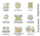set of icons for business.... | Shutterstock .eps vector #598629494