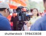 professional cameraman  ...   Shutterstock . vector #598633838