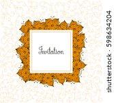 greeting invitation card... | Shutterstock .eps vector #598634204