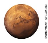 planet mars  in natural colours ... | Shutterstock . vector #598635803