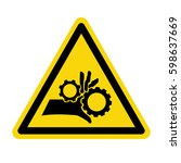 hand hazard sign. danger sign... | Shutterstock .eps vector #598637669
