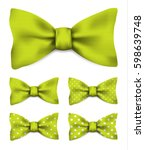 lime green bow tie with white... | Shutterstock .eps vector #598639748