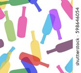 seamless pattern with wine... | Shutterstock .eps vector #598646054