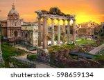 ruins of roman's forum at... | Shutterstock . vector #598659134
