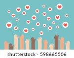 social media competition.... | Shutterstock .eps vector #598665506