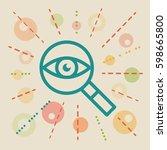 overview. concept vector... | Shutterstock .eps vector #598665800