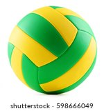 Leather Volleyball Isolated On...
