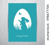 easter greeting card design... | Shutterstock .eps vector #598677704