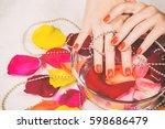 photo on manicure | Shutterstock . vector #598686479