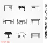 table icons | Shutterstock .eps vector #598691840