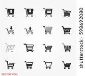 shopping cart icons | Shutterstock .eps vector #598692080