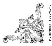 ornament in baroque style | Shutterstock .eps vector #598696040