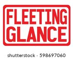 fleeting glance text  on red... | Shutterstock . vector #598697060