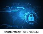 vector technology security... | Shutterstock .eps vector #598700333
