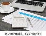 financial evaluation | Shutterstock . vector #598705454