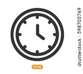 watch vector icon. time symbol. ... | Shutterstock .eps vector #598705769