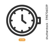 watch vector icon. time symbol. ... | Shutterstock .eps vector #598706039
