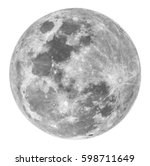 full moon on a white background | Shutterstock . vector #598711649